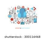 thin line flat design of... | Shutterstock .eps vector #300116468
