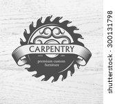 carpenter design element in... | Shutterstock .eps vector #300131798