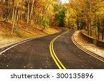autumn scene with road in... | Shutterstock . vector #300135896
