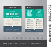 corporate brochure flyer design layout template in A4 size, with bleed, vector eps10. | Shutterstock vector #300137042