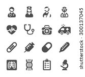 medical icon set 4  vector... | Shutterstock .eps vector #300137045