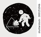 shovel doodle | Shutterstock .eps vector #300151046