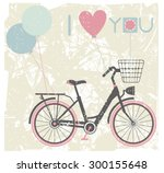valentines day greeting card... | Shutterstock .eps vector #300155648