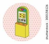 casino slot machine theme... | Shutterstock . vector #300158126