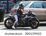 new york   july 11  2015  biker ... | Shutterstock . vector #300159032