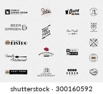 restaurant badges logos and... | Shutterstock .eps vector #300160592