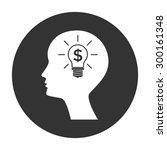 man silhouette   light bulb...   Shutterstock .eps vector #300161348