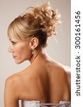 brides hairstyle shooted from... | Shutterstock . vector #300161456