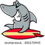 surf of sharks  vector... | Shutterstock .eps vector #300170945