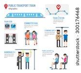 public transport train... | Shutterstock .eps vector #300176468