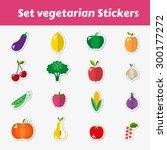 a set of vegetarian stickers... | Shutterstock .eps vector #300177272