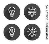 light lamp icons. lamp bulb...   Shutterstock .eps vector #300194792