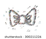 a group of people in the shape... | Shutterstock . vector #300211226