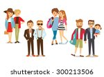gay couples | Shutterstock .eps vector #300213506