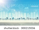 abstract cityscape background... | Shutterstock . vector #300215036