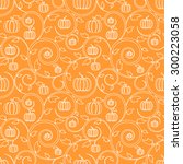 Orange Seamless Pattern With...