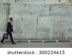 successful businessman with... | Shutterstock . vector #300224615
