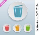 colorful trash bin vector icon... | Shutterstock .eps vector #300228926