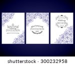 invitation with floral... | Shutterstock .eps vector #300232958