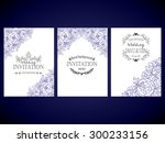 invitation with floral... | Shutterstock .eps vector #300233156