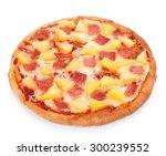 Hawaiian Pizza Isolated On A...