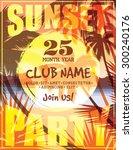 summer beach party. vector... | Shutterstock .eps vector #300240176