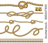 rope line on isolated white... | Shutterstock .eps vector #300247505