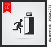 icon of exit sign with man... | Shutterstock .eps vector #300262796
