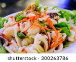 mixed salad of thailand hot and ... | Shutterstock . vector #300263786