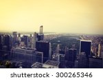 view of upper west side and... | Shutterstock . vector #300265346