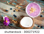 healthy mixed berry smoothie... | Shutterstock . vector #300271922