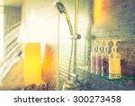 shower while running water  ... | Shutterstock . vector #300273458