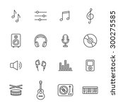 music thin line icons | Shutterstock .eps vector #300275585