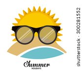 summer glasses digital design ... | Shutterstock .eps vector #300281552