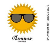 summer glasses digital design ... | Shutterstock .eps vector #300281678