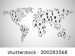 global network mesh. social... | Shutterstock .eps vector #300283568