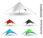 Star Tent On A White Backgroun...