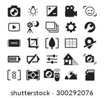 camera menu interface icons set ... | Shutterstock .eps vector #300292076