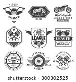 badges  emblems motorcycle...   Shutterstock .eps vector #300302525