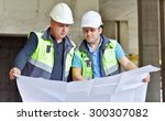 civil engineers at construction ... | Shutterstock . vector #300307082