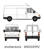 delivery car | Shutterstock .eps vector #300310592