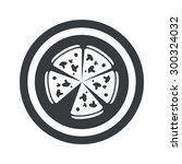image of pizza in circle  on...