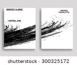 grunge black and white distress ... | Shutterstock .eps vector #300325172