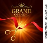 grand opening illustration with ... | Shutterstock .eps vector #300325268