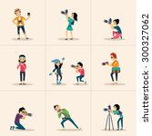 vector creative character... | Shutterstock .eps vector #300327062