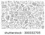school and education doodles... | Shutterstock .eps vector #300332705