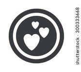 image of three hearts in circle ...