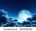 magic moon in the night sky | Shutterstock . vector #300338282