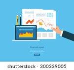 flat design illustration... | Shutterstock .eps vector #300339005