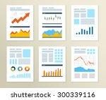 set of flyer  brochure design... | Shutterstock .eps vector #300339116